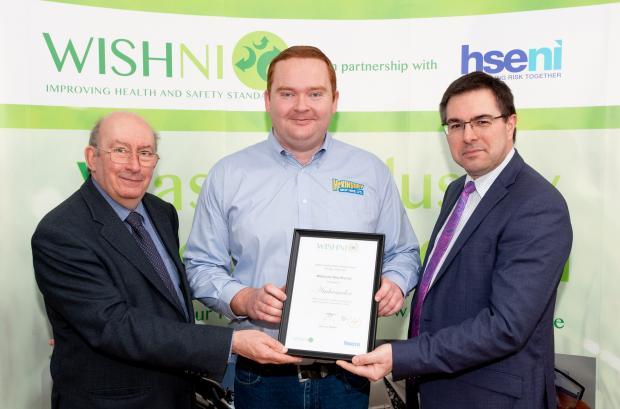 Presentation of the 2020 WISHNI Ambassadors Award to McKinstry Skip hire
