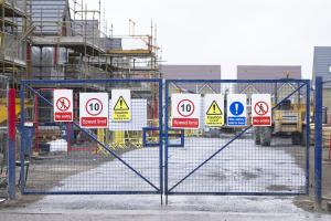 Picture of secured construction site gates