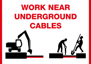 Work near underground cables