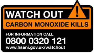 Watchout Carbon Monoxide Kills logo