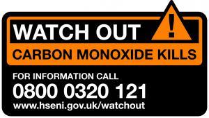 Watchout Carbon Monoxide Kills logo