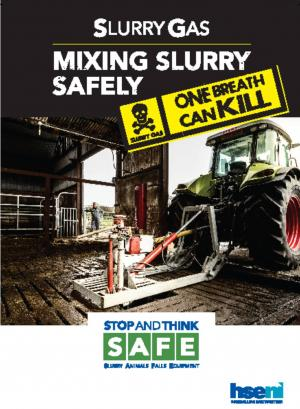 Image of front cover of HSENI's Mixing Slurry safely leaflet