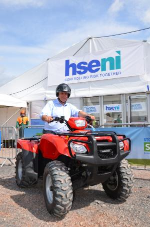 Image of man on a quad bike at Balmoral Show 2014