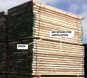 Storing scaffolding boards